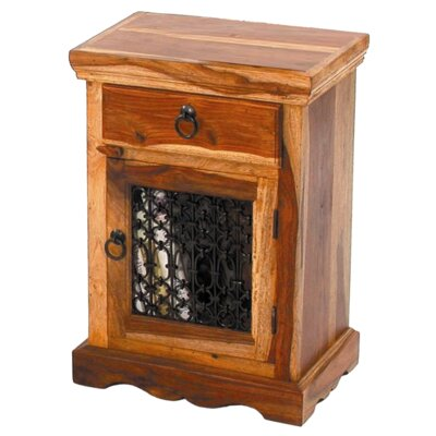 Ethnic Elements 1 Drawer Bedside Table