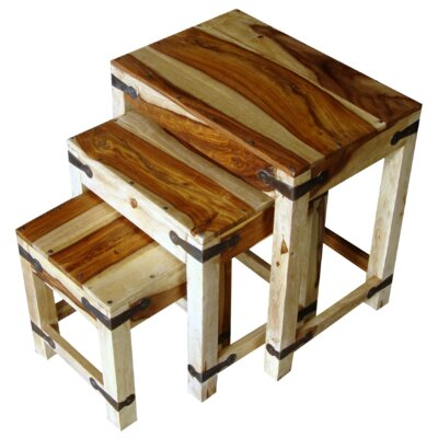 Ethnic Elements Chennai Sheesham 3 Piece Nest of Tables