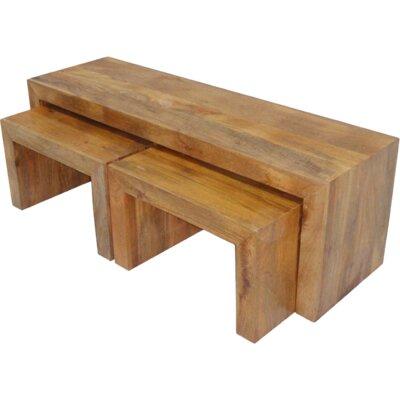 Ethnic Elements Munnar Mango 3 Piece Nest of Tables