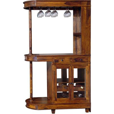 Ethnic Elements Kerala Bar Cabinet with Wine Storage