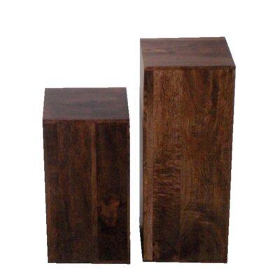 Ethnic Elements Munnar Mango 2 Piece Side Table