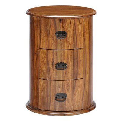 Ethnic Elements Kerala Sheesham 3 Drawer Drum Chest