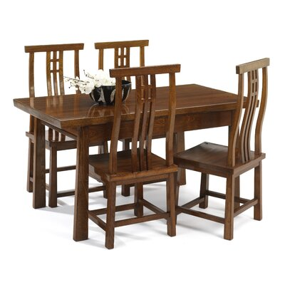 Shimu Asian Contemporary Dining Table and 4 Chairs