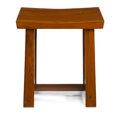 Ethnic Elements Jinrong Wood Dressing Table Stool
