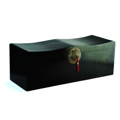 Ethnic Elements Hangzhou Wooden Curved Blanket Box