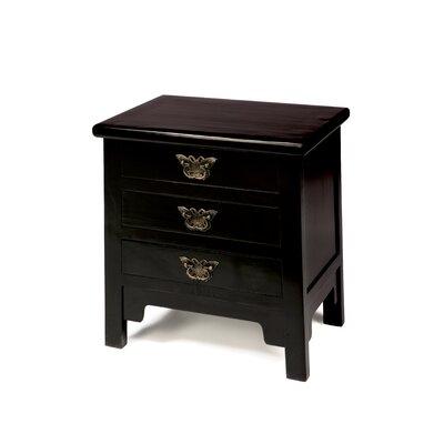 Ethnic Elements Hangzhou 3 Drawer Bedside Table