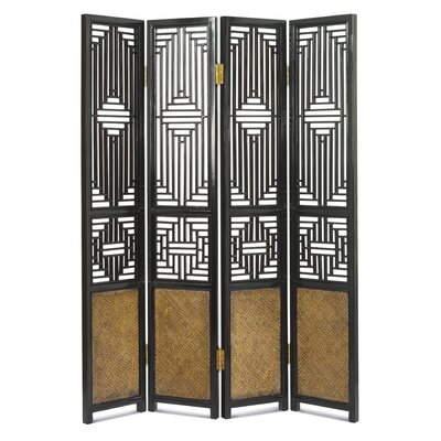 Ethnic Elements 197cm x 37cm Hangzhou Carved Ming 1 Panel Room Divider