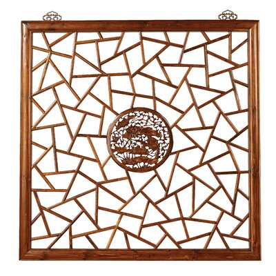 Ethnic Elements 100cm x 100cm Hangzhou Carved 1 Panel Room Divider