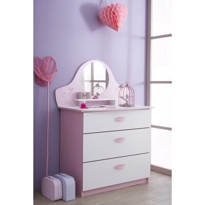 Demeyere Papillon Chest of Drawers with 3 Drawers