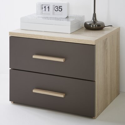 Demeyere Selena Bedside Table with 2 Drawers