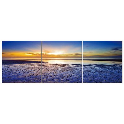 Fjørde & Co Sun and Sea 3-Piece Wall Art