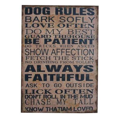 Fjørde & Co Dog Rules Wall Art