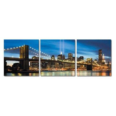 Fjørde & Co Skyline Bridge 3-Piece Wall Art Set