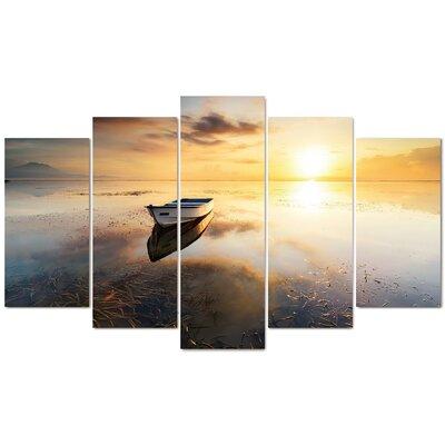 Fjørde & Co Wood Boat Sea 5-Piece Wall Art