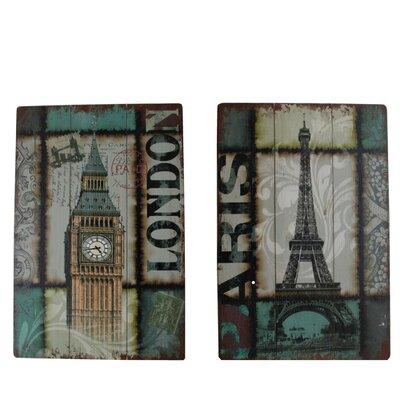 Fjørde & Co London Paris 2-Piece Wall Art