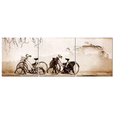 Fjørde & Co Murus Bike 3-Piece Wall Art Set