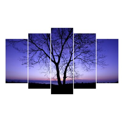 Fjørde & Co Tree at Twilight 5-Piece Wall Art Set