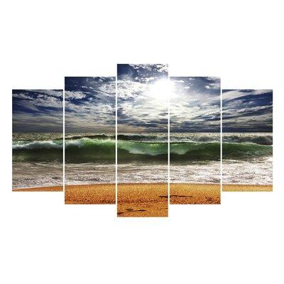 Fjørde & Co Large Wave 5-Piece Wall Art Set