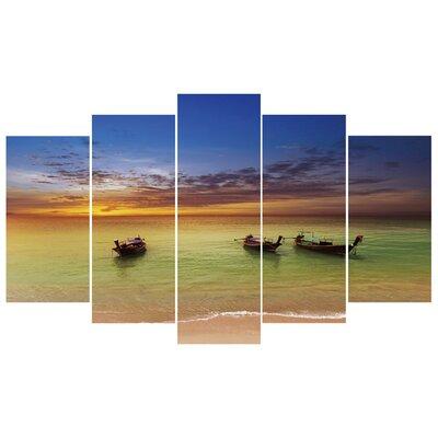 Fjørde & Co Fishing Boats 5-Piece Wall Art Set