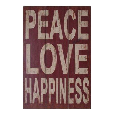 Fjørde & Co Peace Love Happiness Wall Art