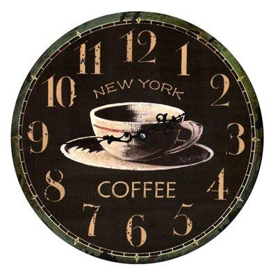 Fjørde & Co NY Coffee 34cm Analogue Wall Clock