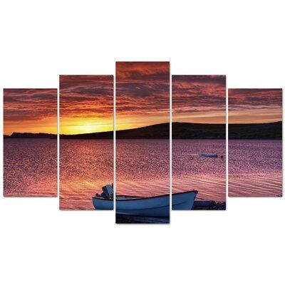 Fjørde & Co Sunset Boat 5-Piece Wall Art