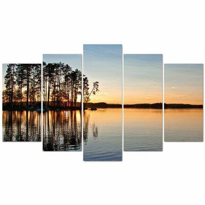 Fjørde & Co Seriouuuss Near Lake 5-Piece Wall Art Set