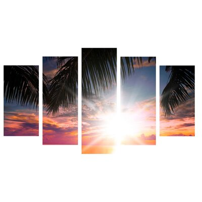 Fjørde & Co Palm Sun 5-Piece Wall Art Set