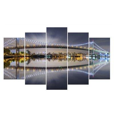 Fjørde & Co Illuminated Bridge 5-Piece Wall Art Set