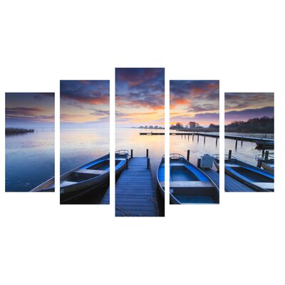 Fjørde & Co Nature and Boats 5-Piece Wall Art Set