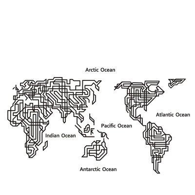 Fjørde & Co Labyrinth World Map