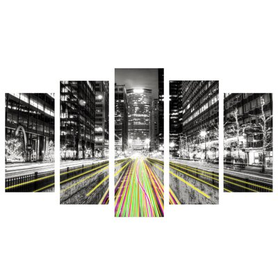 Fjørde & Co City Lines 5-Piece Wall Art