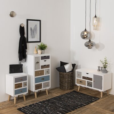 Fjørde & Co Kourtney 1 Door 5 Drawer Combi Cabinet
