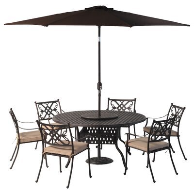 All Home Springhurst 6 Seater Dining Set with Cushions