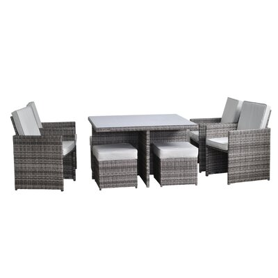 All Home Beverley 8 Seater Dining Set
