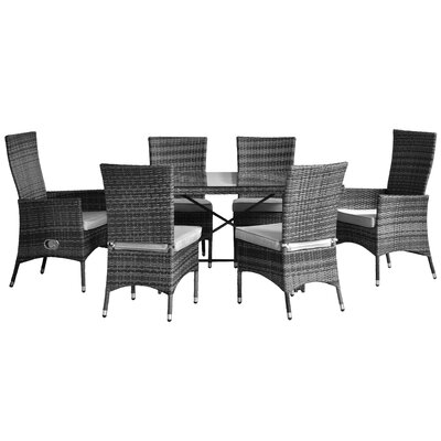 All Home Beverley 6 Seater Dining Set with Cushions