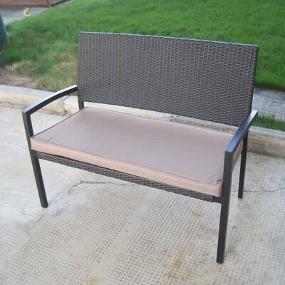 All Home Sarin 2 Seater Rattan Garden Bench