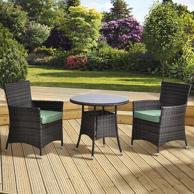 All Home Tucana 2 Seater Dining Set with Cushions
