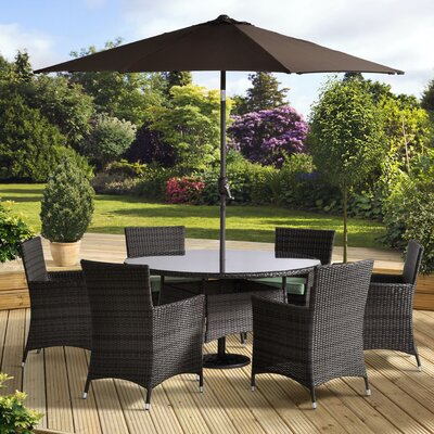All Home Tucana 6 Seater Dining Set with Cushions