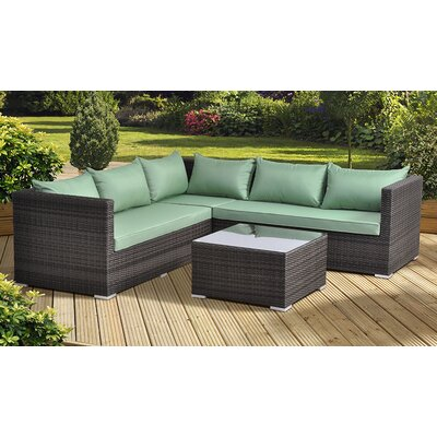 All Home Tucana 5 Seater Sectional Sofa Set with Cushions
