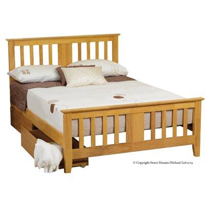 All Home Nesbitt European Single Storage Slat Bed