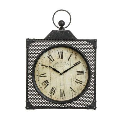 All Home New York Bantock Loft Metal Wall Clock