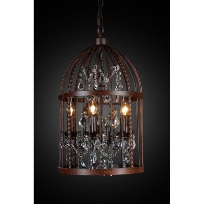 All Home Birdcage 3 Light Foyer Pendant