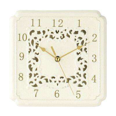 All Home Ceramic Square Georgia Wall Clock