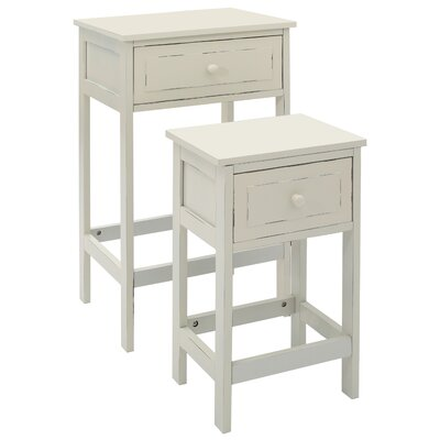 All Home Chatelet 2 Piece Side Table Set