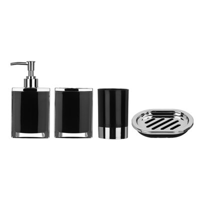 All Home Cristallo 4 Piece Bathroom Accessory Set