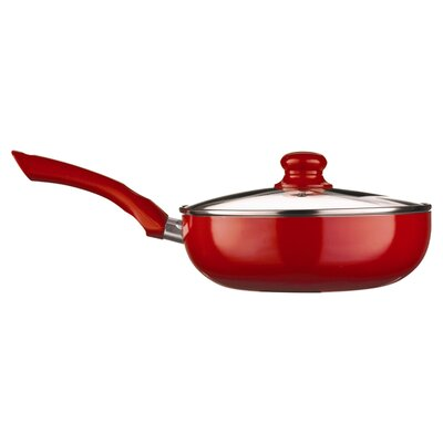 All Home EcoCook Induction Compatible Non-Stick Saute Pan with Lid