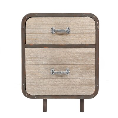 All Home Hesby Loft 2 Drawer Bedside Table