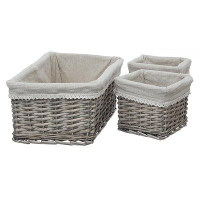 All Home Mesa 3 Piece Willow Basket Set