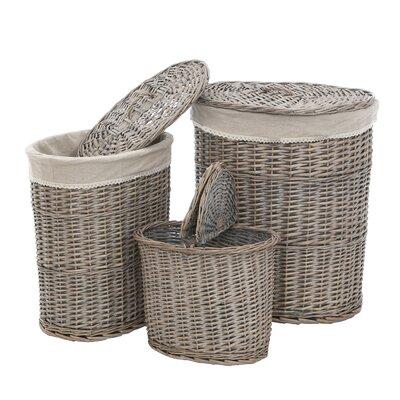 All Home Mesa 3 Piece Laundry Basket Set